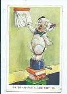Comic Humour Postcard Try To Arrange A Date  Bonzo 1956 - Humor