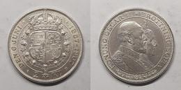 Zweden 2 Kronor 1907 Marriage Of King Oscar II And Lady Sofia KM# 776 - Suecia