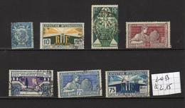Lot Timbres Français De 1924, N° 209 à 215,  Oblitérés - Gebraucht