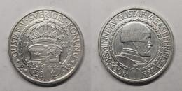 Zweden 2 Kronor 1921 KM# 799 400th Anniversary - War Of Liberation King Gustav V (1908 - 1950) - Suecia