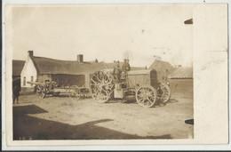 Militaria - Tracteur Déplaçant Une Pièce D'artillerie Armée Allemande Guerre 1914-1918. - Guerra 1914-18
