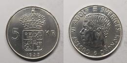 Zweden 5 Kronor 1955 KM# 829 King Gustaf VI Adolf (1950 - 1973) - Suecia