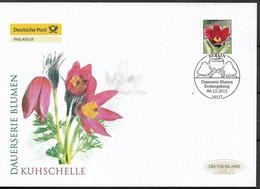 "2012 Deutschland  Allem. Fed. Germany  Mi. 2968 FDC   Blumen:  Rotblühende Kuhschelle (Pulsatilla Vulgaris ""Rubra"") - FDC: Enveloppes"