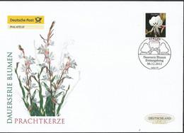 2012 Deutschland  Allem. Fed. Germany  Mi. 2969 FDC   Blumen:   Prachtkerze (Gaura Lindheimeri) - FDC: Enveloppes