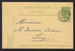 PWST 5C Verstuurd Uit Welkenraedt 1910 - Eupen & Malmedy