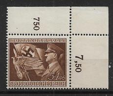 Deutsches Reich  855 ** Eckrand - Nuevos