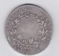 5 Franc Napoléon Empereur AN 12 M - J. 5 Francs