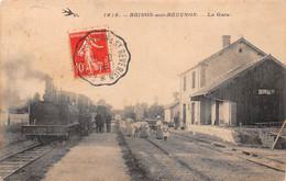 58 - Brinon-sur-Beuvron - La Gare - Gros Plan Du Train - Belle Animation - Brinon Sur Beuvron