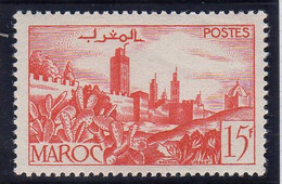 Maroc 1947-49 Remparts  15f YT 262A Neuf Sans Charniere - Unused Stamps
