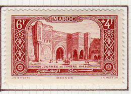 Maroc 1948 Journee Du Timbre YT 268 Neuf Charniere - Unused Stamps