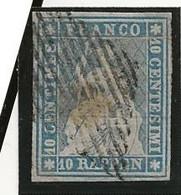 10cs Bleu Z23A Obl Signé V Der Weid ( Pli) - Gebraucht