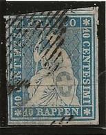 10cs Bleu Z23A Obl Signé V Der Weid - Gebraucht