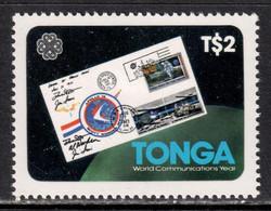 Tonga 1983 Mi# 858 ** MNH - Short Set - Apollo 15 Moon Post Cover / Space - Oceania