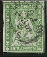 40cs Z26G Obl Signé V Der Weid - Gebraucht
