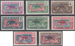 Oubangui-Chari - N° 43 à 62 (YT) N° 43 à 60 & 73, 74 (AM) Neufs *. - Unused Stamps