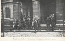 Paris - La Grève Des Cheminots  -le Séminaire Saint Sulpice Transformé En Caserne  - Scan Recto-verso - Sin Clasificación