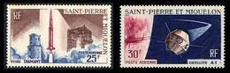 ST-PIERRE ET MIQUELON 1966 - Yv. PA 33 Et 34 **   Cote= 15,40 EUR - 1er Satellite Français (2 Val.)  ..Réf.SPM12582 - Neufs