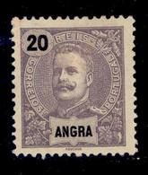 ! ! Angra - 1897 D. Carlos 20 R - Af. 17 - MH - Angra
