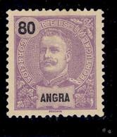 ! ! Angra - 1897 D. Carlos 80 R - Af. 21 - MH - Angra