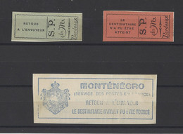 FRANCE.  YT Postes Monténégrines En Exil à Bordeaux Timbres De Retour N° 1/3  Neuf Sur Fragment  1916 - Guerre