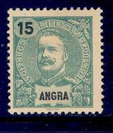 ! ! Angra - 1898 D. Carlos 15 R - Af. 27 - No Gum - Angra