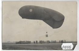 12088  FRD25 CARTE PHOTO EPINAL SOUVENIR DU 1° AEROSTIERS    BALLON D OBSERVATION 17 11 1932 PHOT.  P.MAILLEY EPINAL - Mongolfiere