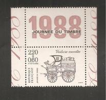 France, 2526, Avec Vignette, Neuf **, TTB, Journée Du Timbre 1988, Voiture Montée - Neufs