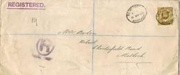38446. Carta Certificada WORTHING (England) 1906 To Matlock - Briefe U. Dokumente