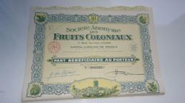 LES FRUITS COLONIAUX (1930) - Zonder Classificatie