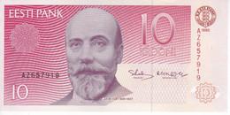 BILLETE DE ESTONIA DE 10 KROONI DEL AÑO 1992 EN CALIDAD EBC (XF) (BANK NOTE) - Estonia