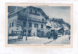CPA :  14 X 9  -  PRAZ-sur-ARLY  -  Sports D'Hiver  -  Entrée Du Village Et Chasse-neige - Sonstige Gemeinden