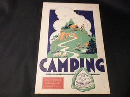 LE GRAND TETRAS   BELLEGARDE  AIN   CATALOGUE  CAMPING    1951 - Sport & Tourismus