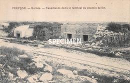 Ruines Casemates Dans Le Remblai Du Chemin De Fer -  Pervijze - Diksmuide
