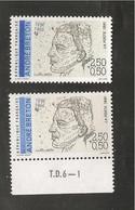 France, 2682a, 2682, Variété : Bleu Foncé ABSENT, Neuf **, TTB, André Breton, Poète - Variedades: 1990-99 Nuevos