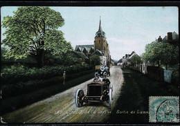 ► Cpa Automobile   Course  Sortie De LAMNAY  24 Heures Du Mans  Années 1900  , Dit Aussi « Circuit De La Sarthe » - Le Mans