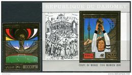 Dahomey 1974. Michel #610+Bl.#55-A MNH/Luxe. Sport. Soccer. World Cup. Munich-74 (Ts22) - 1974 – West-Duitsland
