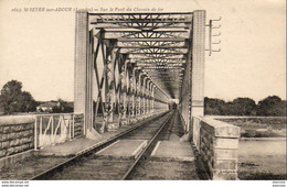 D40  SAINT SEVER SUR ADOUR  Sur Le Pont Du Chemin De Fer - Saint Sever