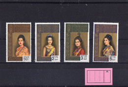 ##(DAN211)-THAILAND  THAILANDE 1968 -  Birthday Of Queen Sirikit Kitiyakara  Set 4 Vals MNH** Very Fresh - Thaïlande