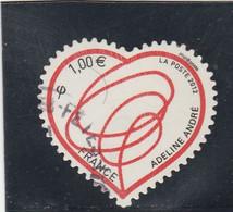 FRANCE 2012 ADHESIF OBLITERE PATCH D AMOUR YT 649 - KlebeBriefmarken