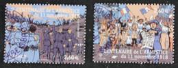 5284- 5285 France 2018 Centenaire De L'Armistice Du 11 Novembre 1918- Oblitéré - Gebraucht