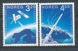 Norvège  1991  N°1019/1020  Série Neuve** Europa Espace - Unused Stamps