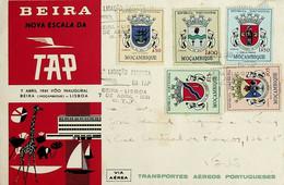 1961 Portugal First TAP Flight Beira (Mozambique) - Lisbon - Mosambik