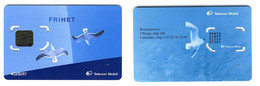 Early GSM SIM Carte Avec Puce Original / Mint___FRIHET Telnor Mobile___sea Gulls Birds___NORWAY Norge - Noorwegen