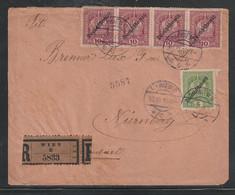 Oesterreich / 1929 / Reco-Brief Ex Wien Nach Nuernberg (D124) - Cartas