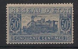 France - 1901 - Colis Postaux - N°Yv. 12 - Train 50c Bleu - Neuf Luxe ** / MNH / Postfrisch - Trains