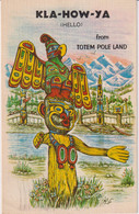 CANADA - Kla-How-Ya (Hello) From Totem Pole Land 1974 Postmark - Native Americans