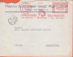 ITALIA - ITALY - ITALIE - 1960 - 030 EMA,Red Cancel - Ramo Editoriale Degli Agricoltori - Giornale Di Agricoltura - Bust - Machine Stamps (ATM)