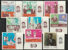 PARAGUAY - N°912/7+PA N°476/7 ** ND (1967) Kennedy - ESPACE - - Sud America