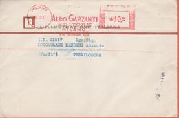 ITALIA - ITALY - ITALIE - 1957 - 10 EMA,Red Cancel - Aldo Garzanti Editore - L'Illustrazione Italiana - Stampe - Viaggia - Machine Stamps (ATM)