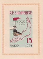 Albanie 1964  - Bloc Feuillet Jeux Olympique TOKYO 6 Non Dentelé  ** Neuf Sans Charnière MNH - Albanien